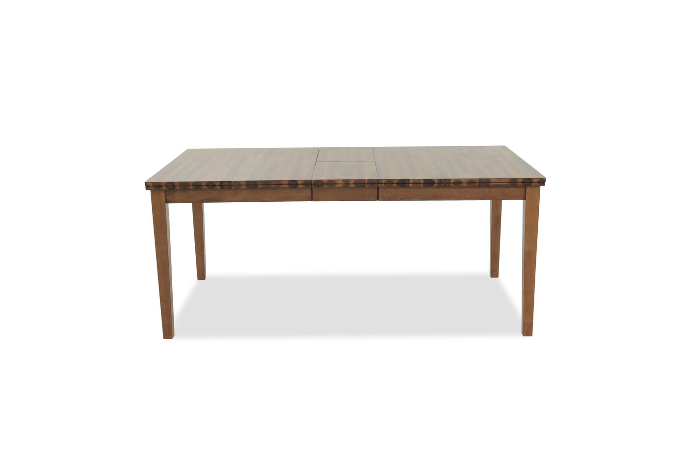 Casual 60 to 72 rectangular dining table in acacia for Casual kitchen tables