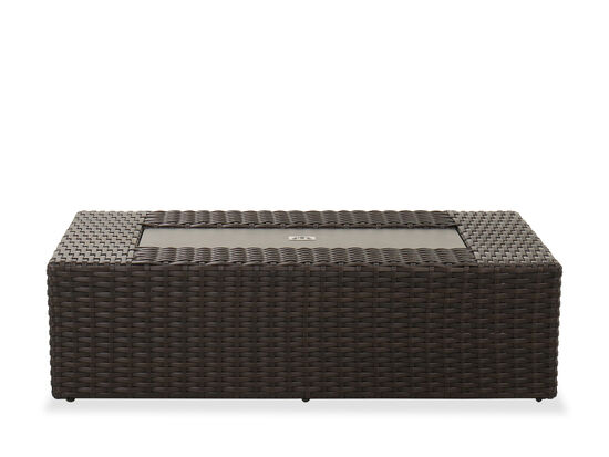 Contemporary Patio Coffee Table in Brown