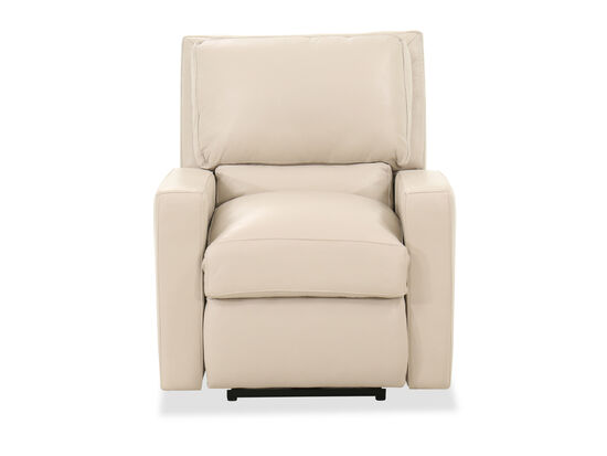 Casual Leather 32'' Power Recliner in Pebble Bone