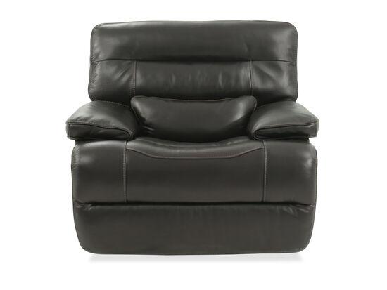 """Power Headrest Leather 45"""" Power Glider Recliner in Black"""