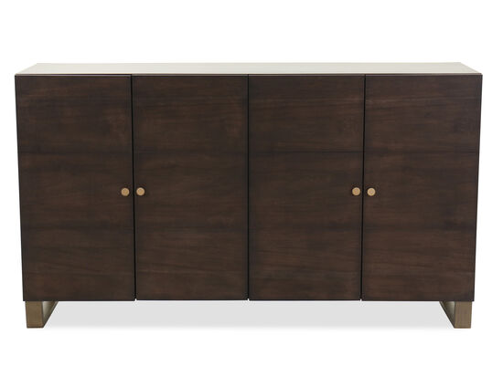 "Modern 64"" Four-Door Credenza in Barton"