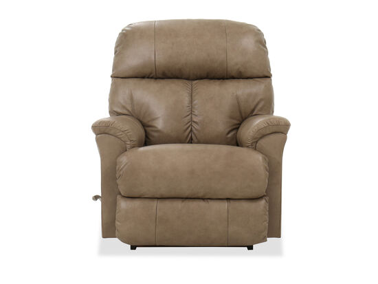 "36"" Casual Leather Rocking Recliner in Beige"