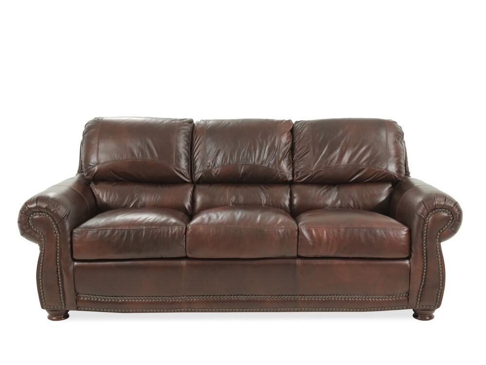 85 Leather Sofa In Brown Mathis