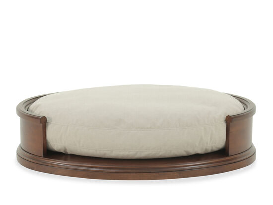 "Contemporary 40"" Oval Dog Bed in Cream"