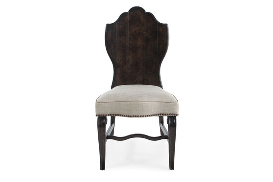 Medallion Back 44'' Side Chair in Nutmeg