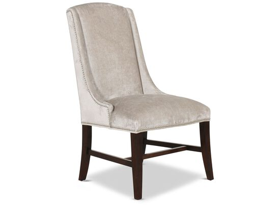 Wingback 42'' Arm Chair in Silver