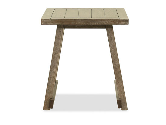Modern Square End Table in Dark Brown