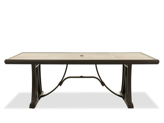 Rectangular Dining Table in Dark Brown