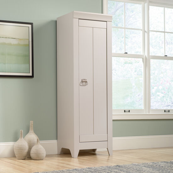 One-Door Traditional Narrow Cabinet in Cobblestone