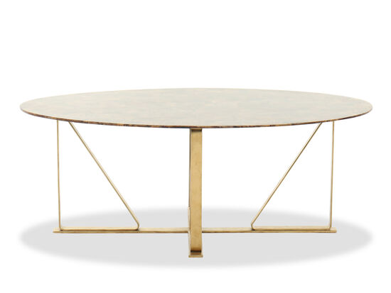 """48"""" Oval Contemporary Cocktail Table in Bronze"""