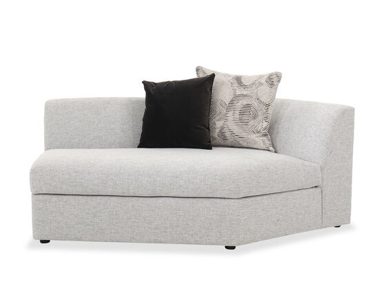 """45"""" Sectional Loveseat in Heather Gray"""