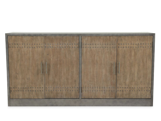 36'' Four-Door Transitional Credenza in Gray