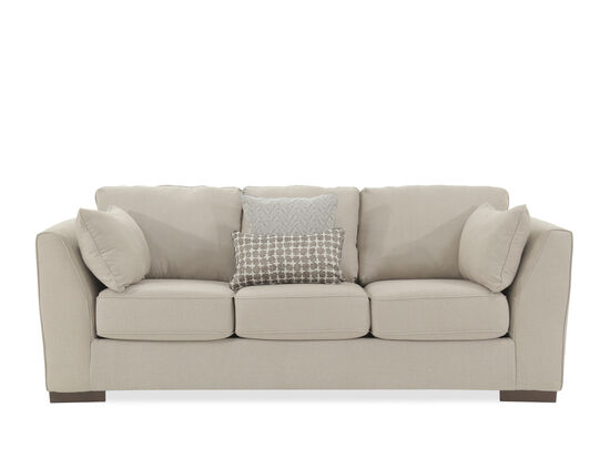 "Contemporary 93"" Box Sofa in Beige"