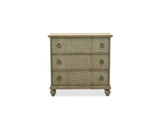 Three-Drawer Transitional Accent Chest in Gray