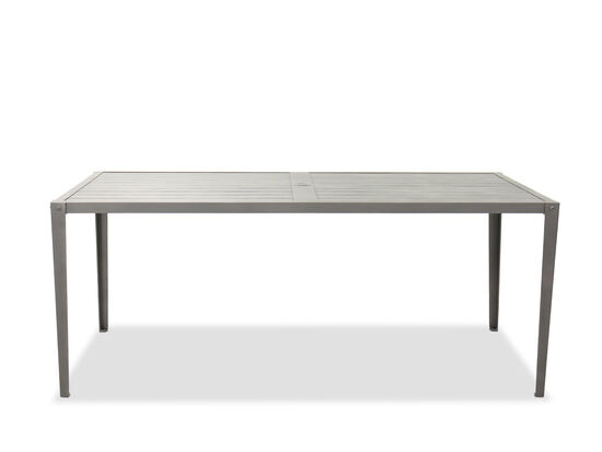 Casual Rectangular Dining Table in Gray