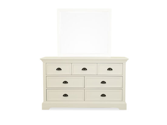 Contemporary Seven-Drawer Youth Dresser in White