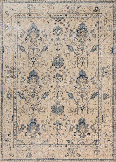 "Contemporary 2'-7""x4' Rug in Ivory/Slate"