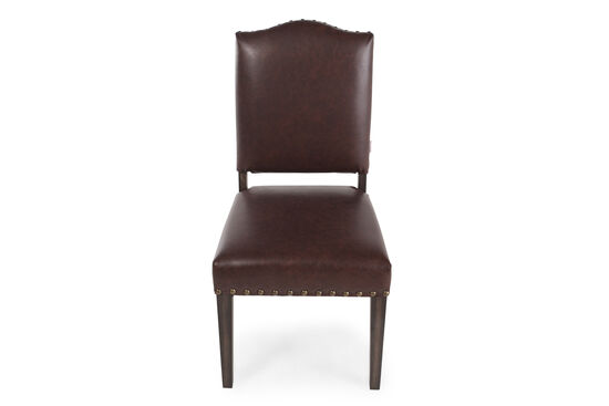 Arched Back 39'' Dining Chair in Dark Brown