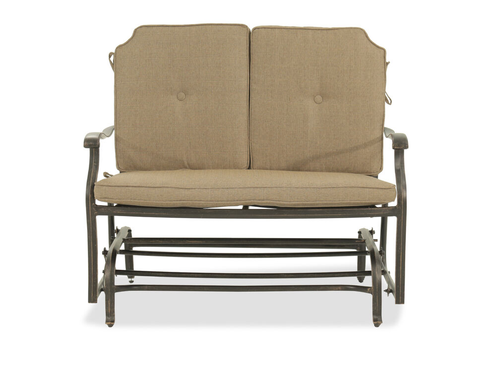 Images On Tufted Casual Glider Loveseat In Beige