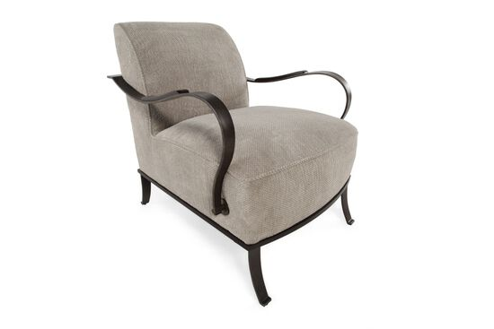 Textured Contemporary Chair in Dove Gray