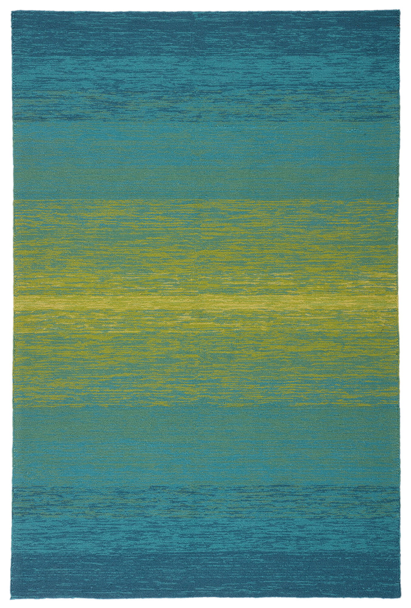 Blaze Indoor Outdoor Ombre Blue Lime Green Area Rug 5 X7 6 Mathis Brothers Furniture