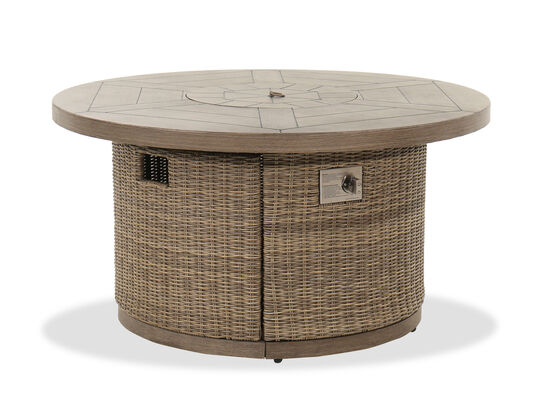 Traditional Round Fire Pit in Dark Brown