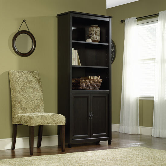 Two-Door Transitional Library in Estate Black