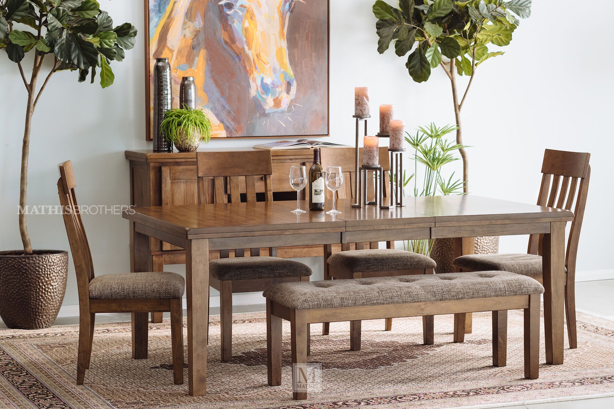 42 Quot Rectangular Dining Table In Light Brown Mathis Brothers Furniture