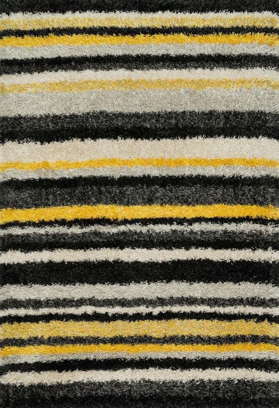 "Contemporary 5'-2""x7'-7"" Rug in Yellow/Multi"