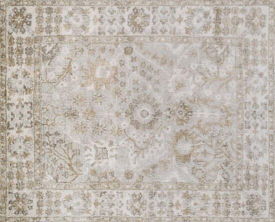 Loloi Hand Knotted 5'6''x8'6'' Rug in Silver/Ivory