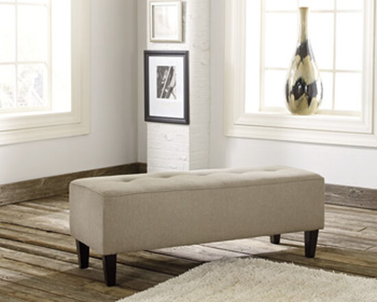 "Tufted Casual 47"" Oversized Accent Ottoman in Beige"