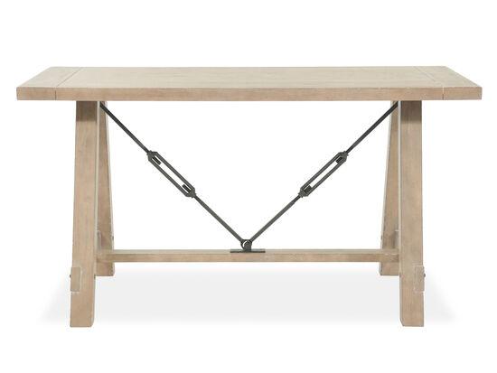 """57"""" Contemporary Trestle Sawhorse Desk in Brown"""