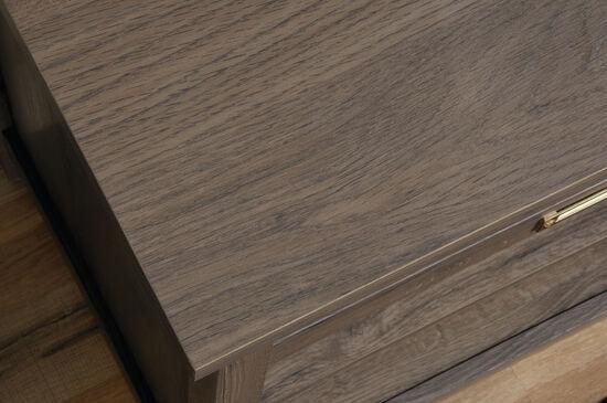 Traditional Adjustable Shelf Storage Credenza in Fossil Oak