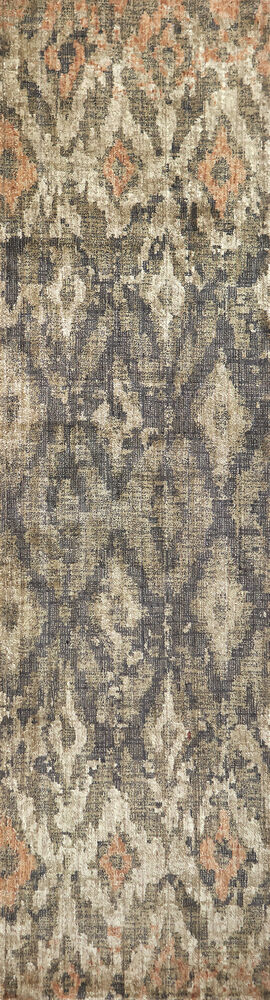 Transitional Power-Loomed 2.6 x 10 Runner Rug in Brown