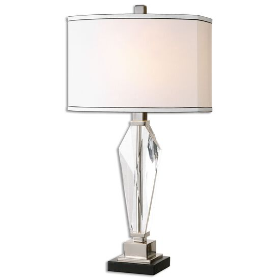Oval Shade Table Lamp in White