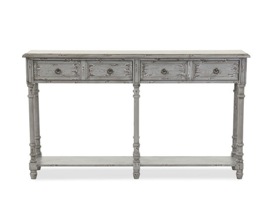 Traditional Entryway Console in Gray