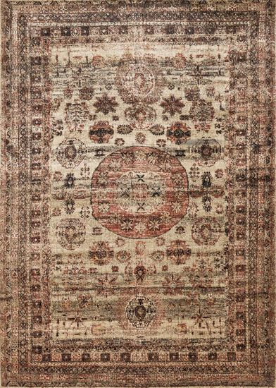 "Transitional 2'-7""x8'-0"" Rug in Champagne/Multi"