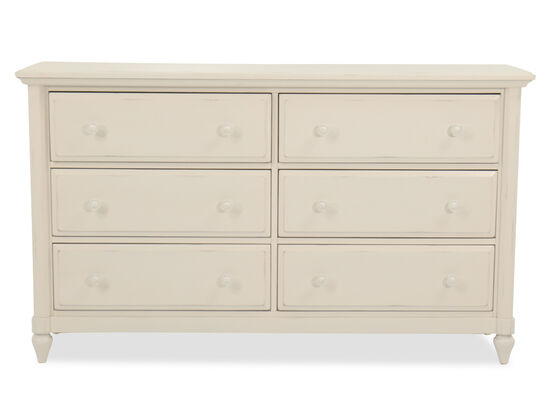 "38"" Casual Six-Drawer Dresser in Chalk"