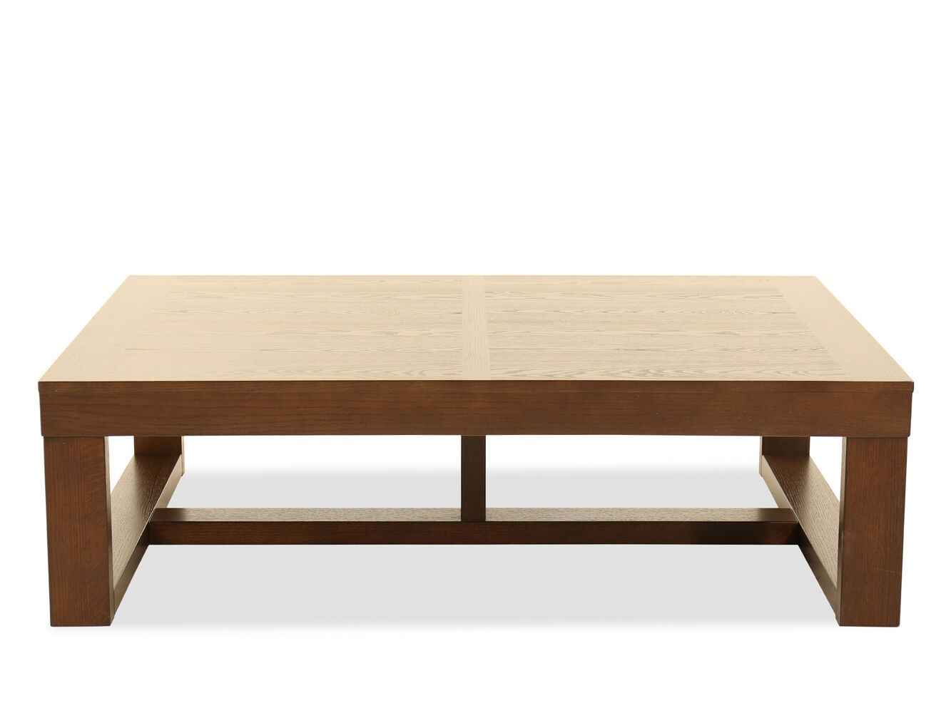 Rectangular Contemporary Cocktail Table In Merlot Mathis Brothers Furniture