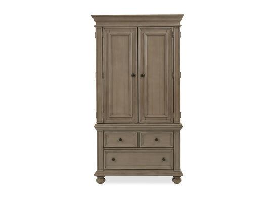 Casual Two-Door Armoire in Khaki Gray