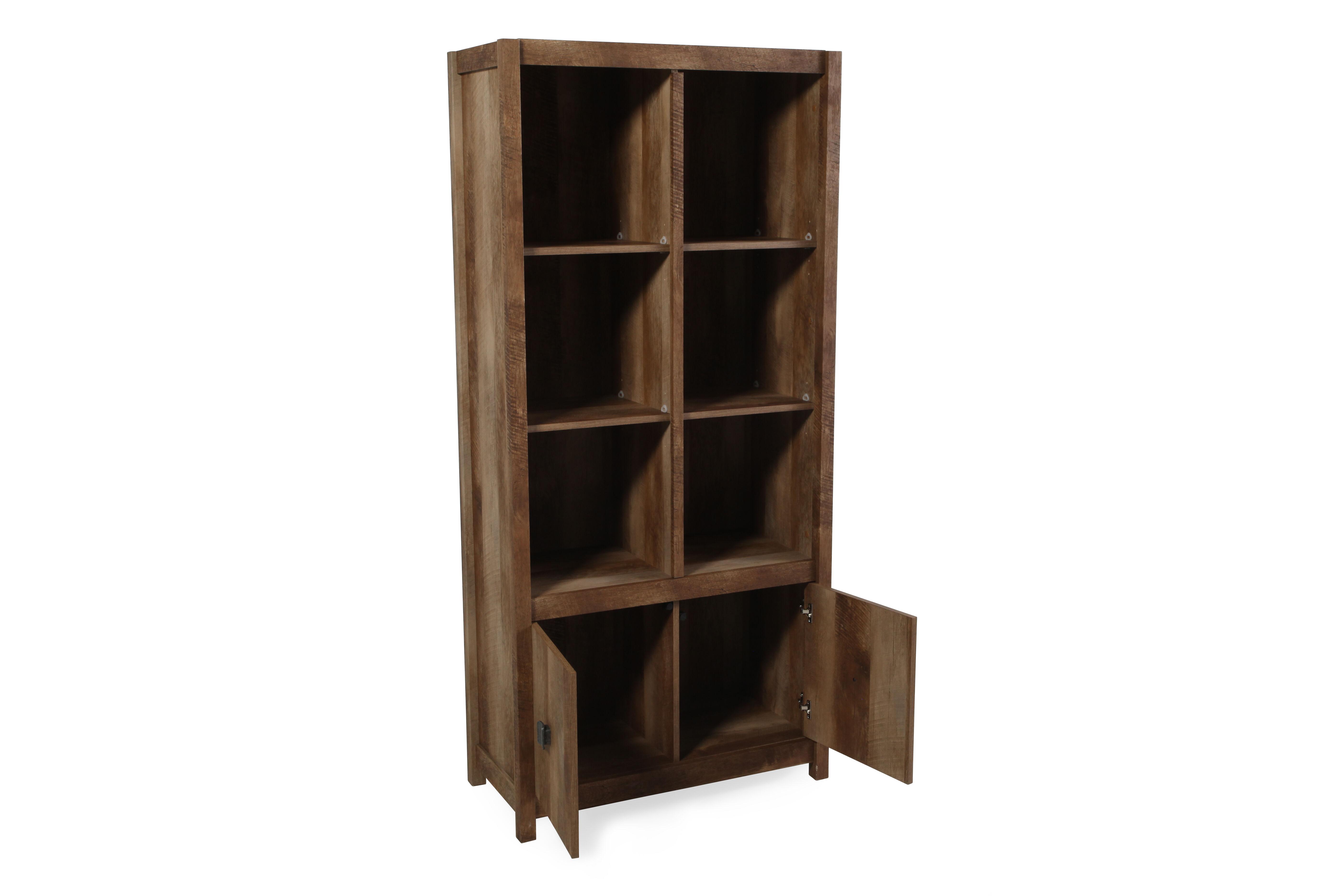 ... Two Door Casual Adjustable Shelf Tall Bookcase In Oak. U2039 U203a