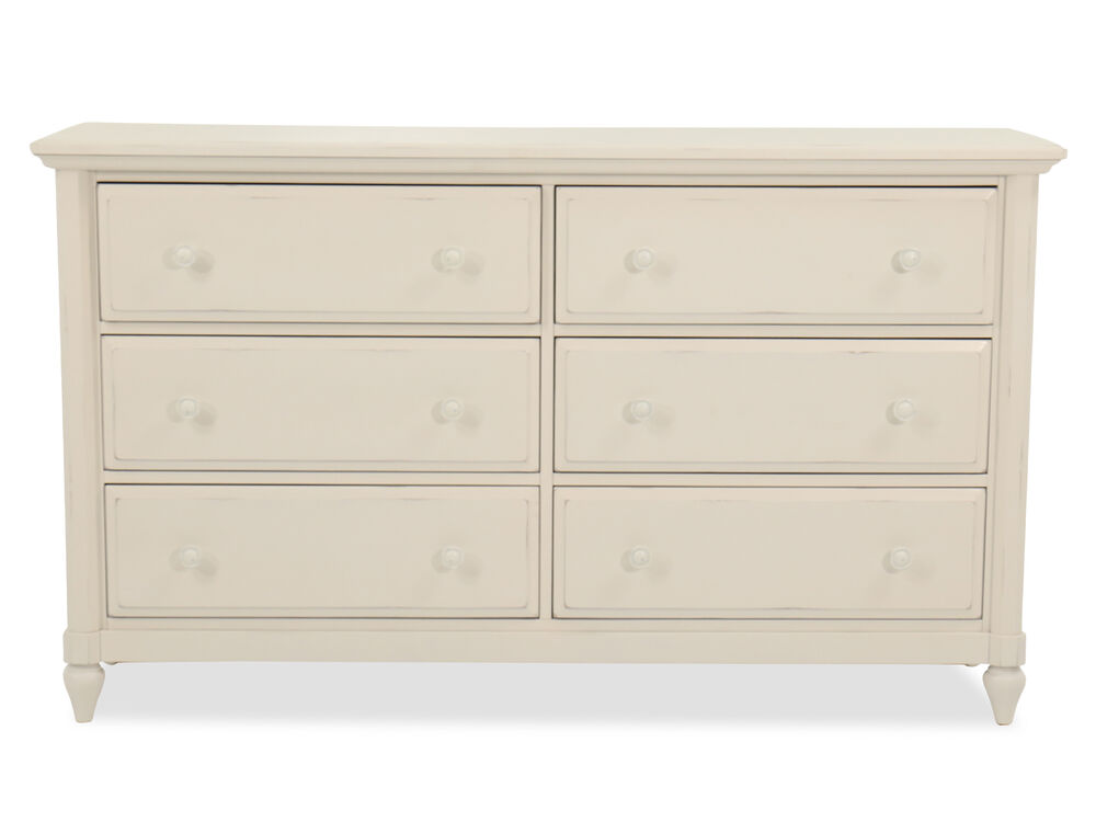 "38"" Casual Six-Drawer Dresser in Chalk"