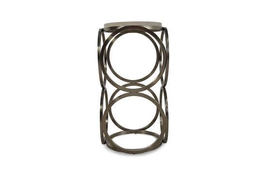 Circle Base Glam Accent Table in Bronze