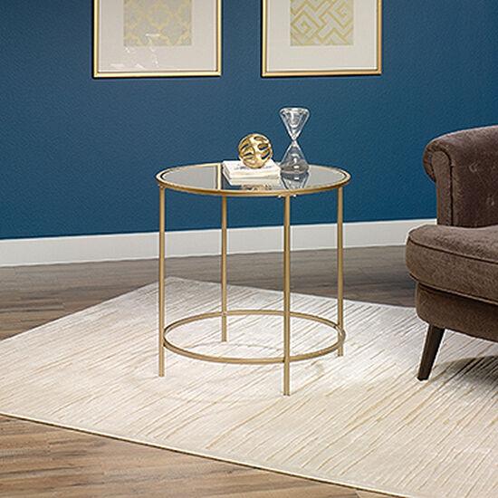 Round Side Tablein Satin Gold