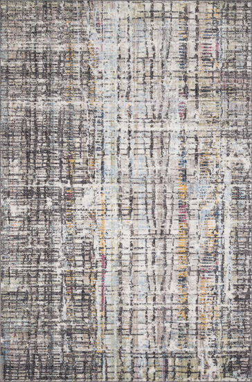 """Loloi Power Loomed 5' x 7'6"""" Rug in Charcoal/Multi"""