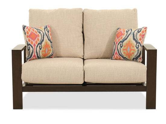 Contemporary Aluminum Loveseat in Beige