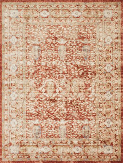 Traditional 13'x18' Rug in Terracotta