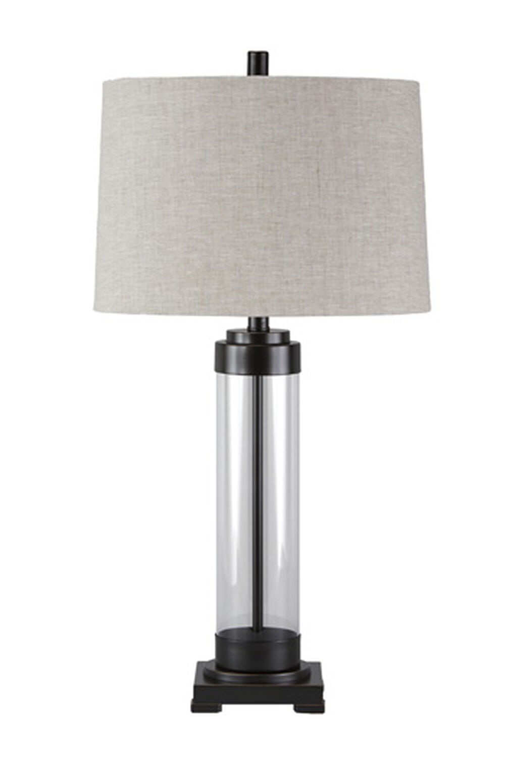 Contemporary French Column Glass Table Lamp Mathis Brothers Furniture