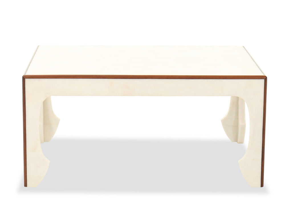 """40"""" Rectangular Contemporary Cocktail Table in Beige"""