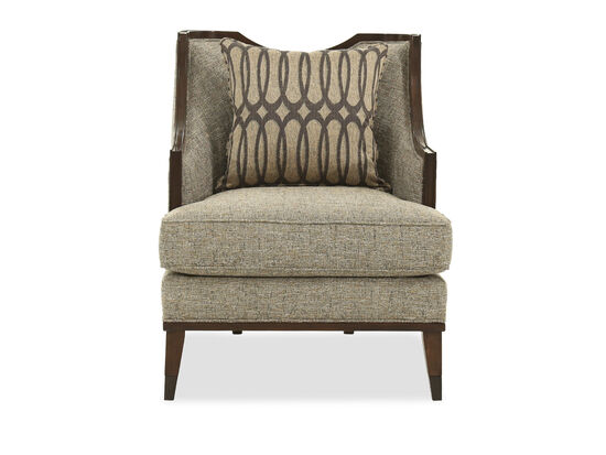 """Textured Contemporary 30"""" Chair in Gray"""